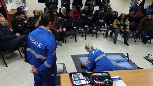 Βιωματικό σεμινάριο βασικών πρώτων βοηθειών στους εργαζόμενους του ΚΤΕΛ ΑΕ Ν. Ξάνθης